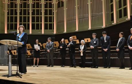 Bremen Glocke Bremen  Klavierwettbewerb 2016  Finale Ansprache und VerkŸndung der Sieger durch die Vorsitzende der Jury Konstanze Eickhorst